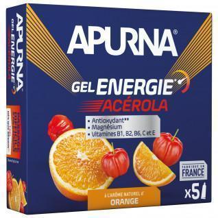 Partij van 5 gels Apurna Energy Acerola Orange - 35g