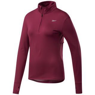 Sweatshirt vrouw Reebok Running 1/4 Zip