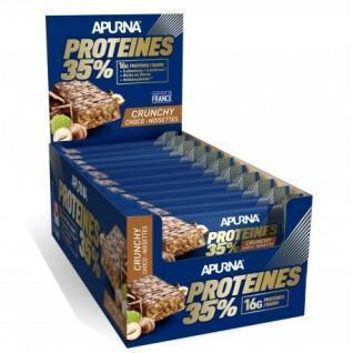 Set van 20 repen Apurna HP Crunchy Chocolat-Noisette